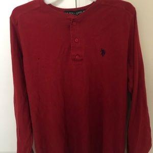 Red Polo Assn Long Sleeve Tee